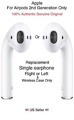 Airpods 2nd Gen Left or Right Side Single Replacements Only Apple Original New