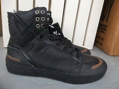 NWT MENS SUPRA SKYTOP 77 LEATHER SNEAKERSSHOES SIZE 9-BLACK-BRAND NEW 2020