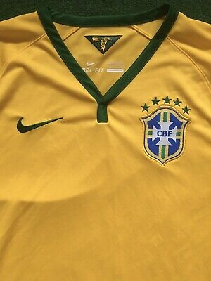 Nike Brazil 2014 World Cup Yellow Home Jersey Men's Large