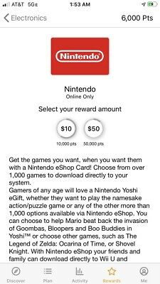 2000 Free Points For Nintendo Gift Cards 10-50
