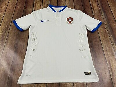 Portugal Men's National Soccer Team Nike White 2014 World Cup Jersey - Large
