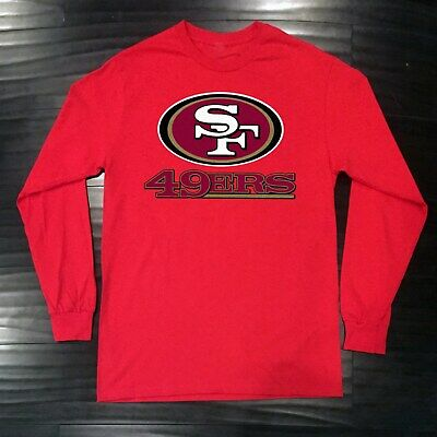San Francisco 49ers Long T-Shirt Graphic Cotton Logo Adult Jersey SF
