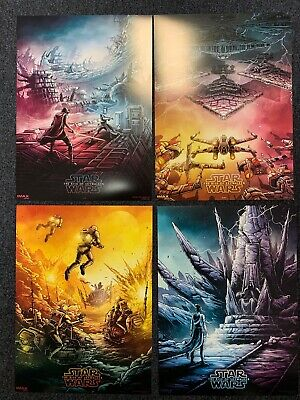 STAR WARS THE RISE OF SKYWALKER AMC IMAX Complete Dan Mumford poster set 1-4 New