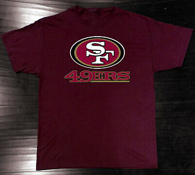 San Francisco 49ers T-Shirt Graphic Cotton Logo SF Adult Men