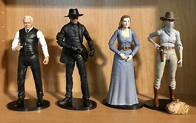 Westworld Wave 1  4 Action Figure Set Man In Black Robert Ford Outlaw Dolores