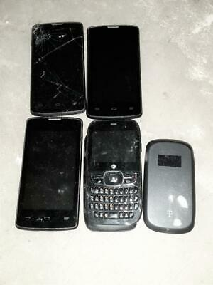 4 ZTE CELL PHONES PARTS REPAIR UNTESTED Different Carriers - 4g Mobile Hotspot