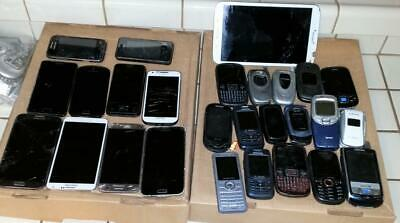 27 SAMSUNG CELL PHONES PARTS REPAIR UNTESTED  Filp Different Carriers Tablet