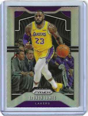 2019-20 Panini Prizm LeBron James Silver Refractor Card 129 LAKERS Centered
