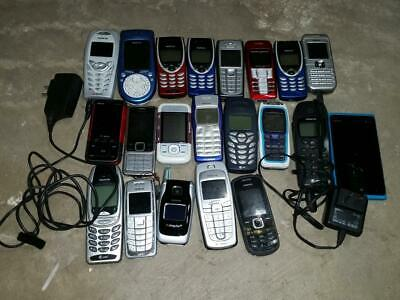 Lot of 21 NOKIA CELL PHONES PARTS REPAIR UNTESTED Different Carriers