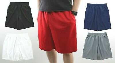 Mens Gym Basketball Shorts Athletic Workout Active Mesh Short with 2 Pockets