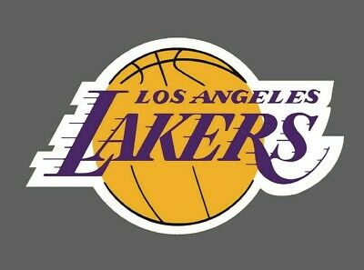 Los Angeles Lakers 2 PACK NBA Decal Sticker - You Choose Size - FREE SHIPPING