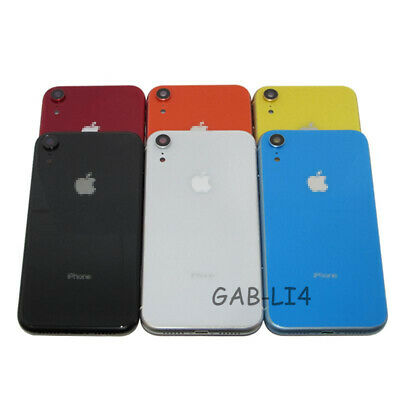 For Apple iPhone XR Housing Back Glass Chassis Frame Battery Door Cover -Buttons