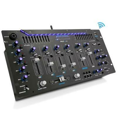 Pyle PYD1964B-5 6 Channel Bluetooth DJ Controller Stereo Mixer Sound System