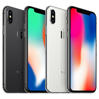 Apple iPhone X iPhone 10 64GB 256GB Silver Space Grey Unlocked Sim Smartphone