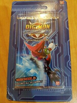 2013 Bandai Digimon Fusion New World CCG Booster Pack NewSealed