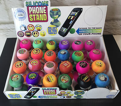 Silicone Suction Phone Stand Countertop Display 24ct