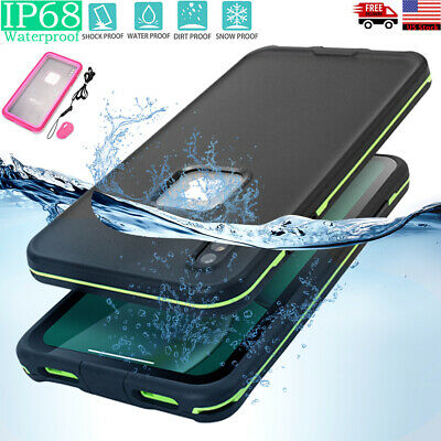 For iPhone XR XS Max XS X Dirt Proof Waterproof Shockproof Underwater Case Cover