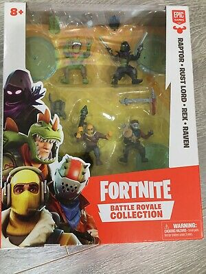 Fortnite Battle Royale Collection Squad Pack-Raptor Rust Lord Rex Raven