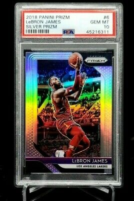 2018-19 Panini Prizm Lebron James Silver Prizm 6 PSA 10 GEM MINT Cavs Lakers