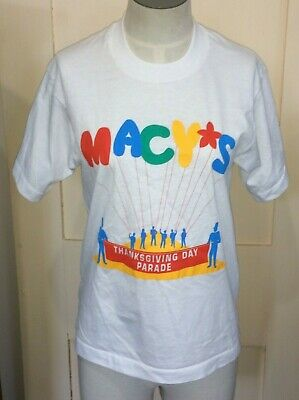 VTG Macys Thanksgiving Day Parade T-Shirt Size Youth Large 14-16 Best FOTL