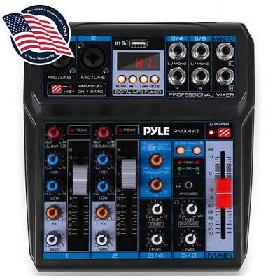 Pyle PMX44T Professional 6-Channel Compact Audio Mixer with DSP DSP Sound Effect