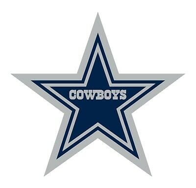 Dallas Cowboys 2 PACK NFL Decal Sticker - You Choose Size - FREE SHIPPING