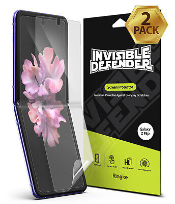 For Samsung Galaxy Z Flip Screen Protector  Ringke Invisible Defender 2 Pack