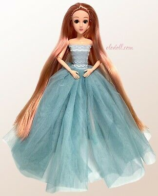 Eledoll Rosaura Posable Jointed Articulated Fashion Doll Rose Gold Long Hair 12