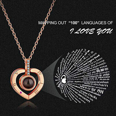 100 Languages Light Projection I Love You I Happy Mothers Day I Gift Jewelry