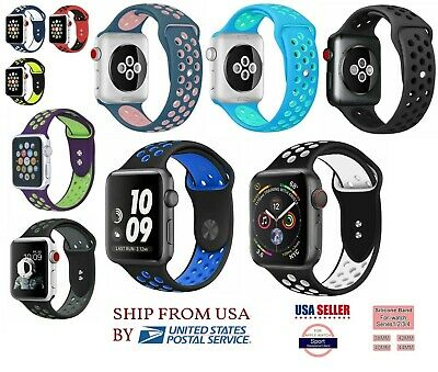 new Silicone Sport Band 3840mm 42mm 44mm For Nike- Apple Watch Series 2 3 4 5 6