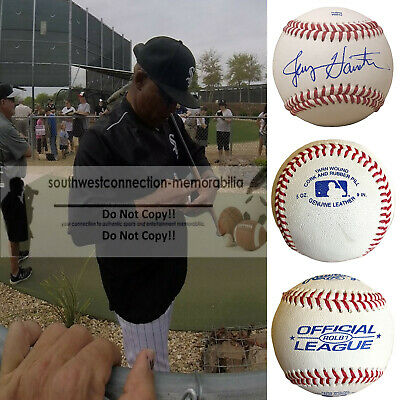 Jerry Hairston Sr Chicago White Sox Pirates Signed Autographed Baseball Proof