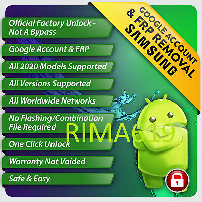Remote Google Account Bypass Removal Reset Unlock FRP SAMSUNG A10 A20 A30 A50