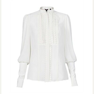 Ted Baker Stardy Blouse Worn By Kate Middleton   Size 2