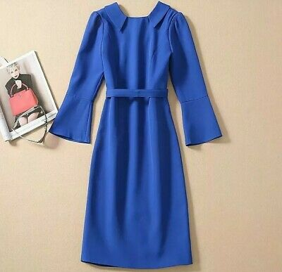 Royal Blue Formal Smart Dress Kate Middleton Style Size Small Worn Once
