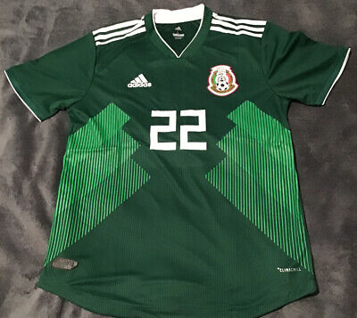 CHUCKY LOZANO MEXICO 2018 WORLD CUP PLAYER VERSION HOME Size Large