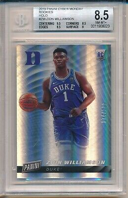 Zion Williamson Pelicans 2019 Panini Cyber Monday Rookie RC Holo 74199 BGS 8-5