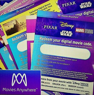 DIGITAL HD - 4K CODES MOVIE CODES 75- NEW RELEASES 40- NEW 4K CODES ADDED WOW