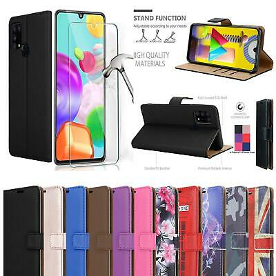 For Samsung Galaxy M31 Case Leather Wallet Magnetic Phone Cover - Screen Glass