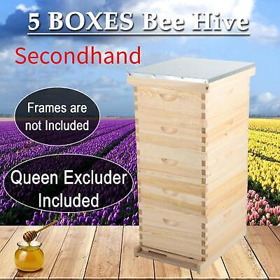 SecondHand 10-Frame 5 Box Beehive Frames Bee Hive Frame Bee House Beekeeping