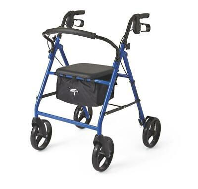 Medline Basic Steel Rollator with 8 Wheels - Available in Red Green or Blue