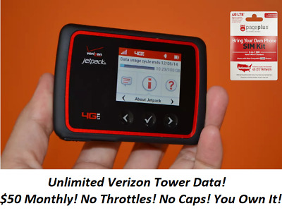 Hotspot Unlimited Data No Throttling 50 Page Plus Service Verizon Tower