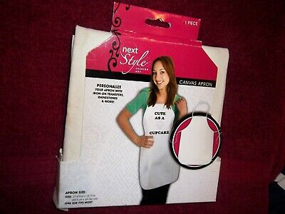 Personalize you own Canvas Craft Apron by Next Style-One Size Fits Most