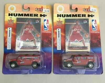 LEBRON JAMES 2003-04 FLEER ULTRA ROOKIE CARD AND HUMMER TRUCK LOT OF 2 UNOPENED