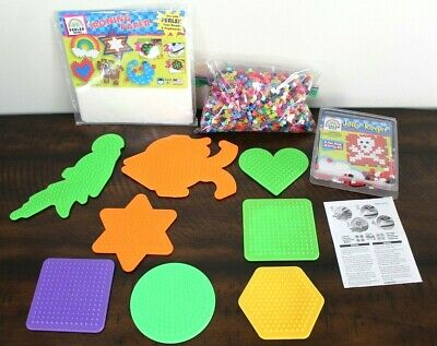 Huge Lot PERLER BEADS PEGBOARD 8 Circle Square Shapes Plates Pattern Iron Paper