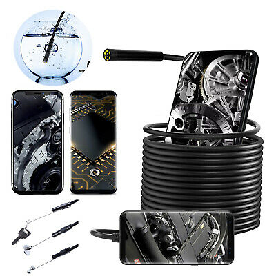 Waterproof Inspection Camera Cam Endoscope For iPhone iOSAndroid Phone CarTube