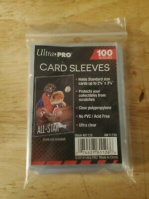 Ultra Pro Penny Card Sleeves 100 Pack Sports Trading Gaming Standard size