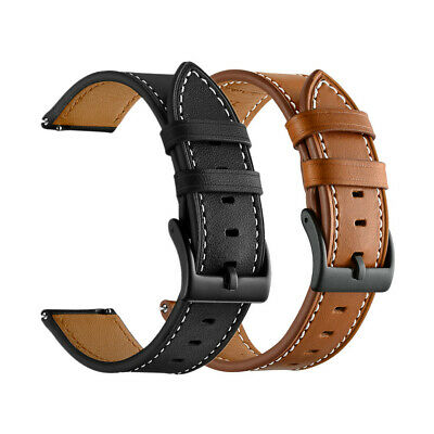 18mm 20mm 22mm Classic Genuine Leather Watch Band Strap Quick Release Wristband