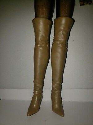 BARBIE SEXY THIGH HIGH TAN BOOTS  BOOTS ONLY