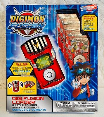2013 NEW Bandai Digimon Fusion DigiFusion Loader Digivice Sounds Electronic Toy