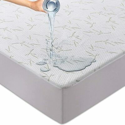 Waterproof Bamboo Mattress Protector Hypoallergenic Breathable Fitted Bed Covers